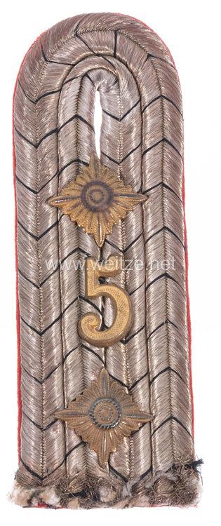 Preußen Einzel Schulterstück für einen Hauptmann im Jäger-Bataillon von Neumann (1. Schlesisches ) Nr. 5