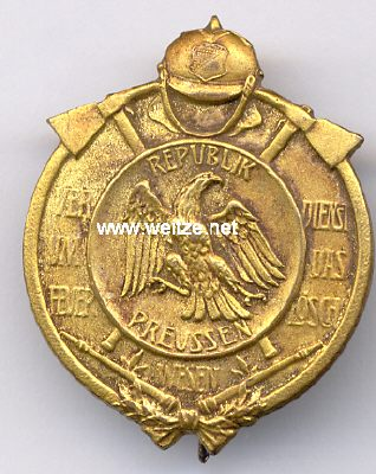 Preußen Freistaat Feuerwehr-Erinnerungsabzeichen für Verdienst um das Feuerlöschwesen, 1925-1933.