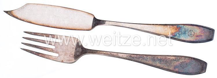 III. Reich SS-Schule Wewelsburg: Speisebesteck aus dem formellen Tafelsilber
