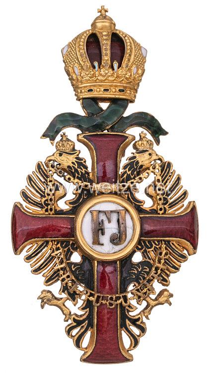 Österreich / K.u.K. Monarchie Franz-Joseph Orden Offizierskreuz mit Kriegsdekoration