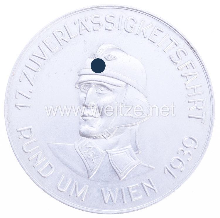 """NSKK - nichttragbare Teilnehmerplakette - """" Motorgruppe Ostmark - NSKK Standarte ' M 94 ' 17. Zuverlässigkeitsfahrt rund um Wien 1939 """""""