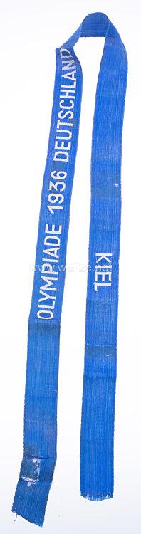 XI. Olympischen Spiele 1936 Berlin - Mützenband für die Segelwettbewerbe in Kiel