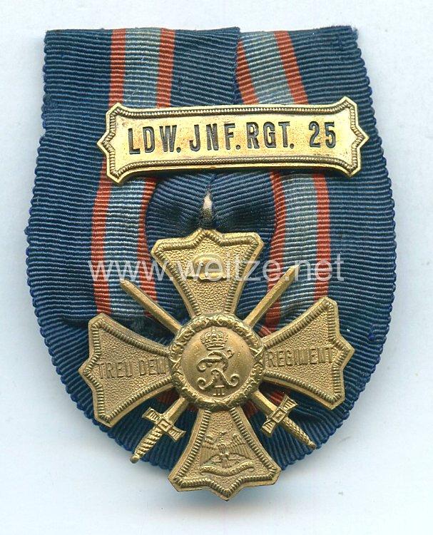Fürstentum Lippe Regiments-Erinnerungskreuz des Landwehr-Infanterie-Regiment Nr. 25