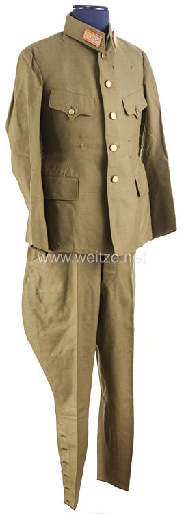 Japan 2. Weltkrieg, Kaiserlich Japanische Armee, Feldbluse und Hose für einen Generalleutnant