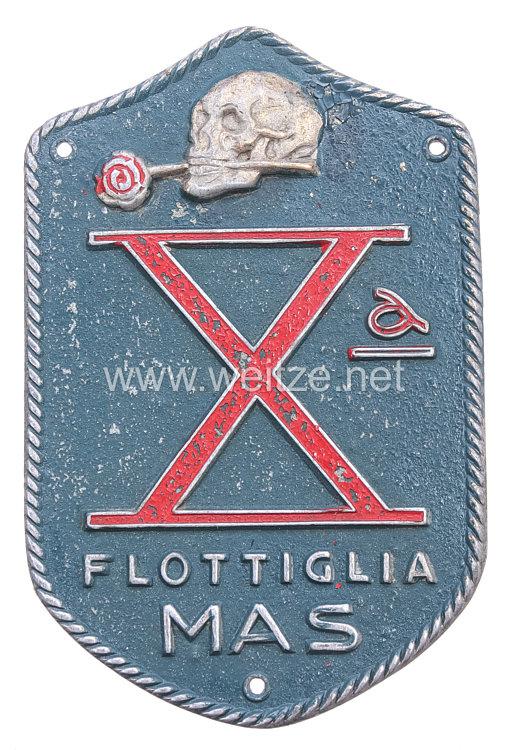 """Italien 2. Weltkrieg RSI ab 1943: Ärmelabzeichen für einen Angehörigen der """"Xa Flottiglia MAS"""""""