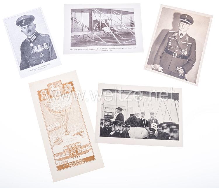 DLV Deutscher Luftsportverband original Portraitfoto des Freiballonführers und DLV Fliegerkapitäns Oberstleutnant a.D. Dr. Alfred Hildebrandt