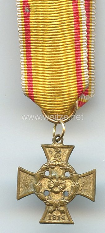 Lippe-Detmold Kriegsverdienstkreuz 1914 - Miniatur