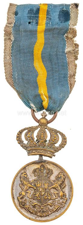 Königreich Rumänien Treuedienst Medaille in Silber, ab 1878