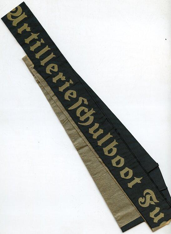"""Kriegsmarine Mützenband """"Artillerieschulboot Fuchs"""""""