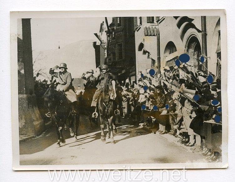 III. Reich Pressefoto. Zum dritten Jahrestag der Angliederung Österreichs an das Reich. 11.3.1941.