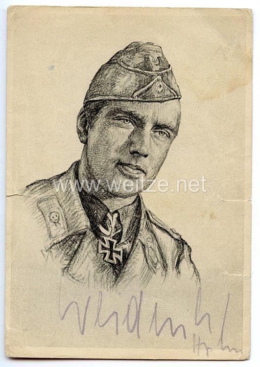 Heer - Originalunterschrift von Ritterkreuzträger Oberleutnant Wilhelm Weidenbrück