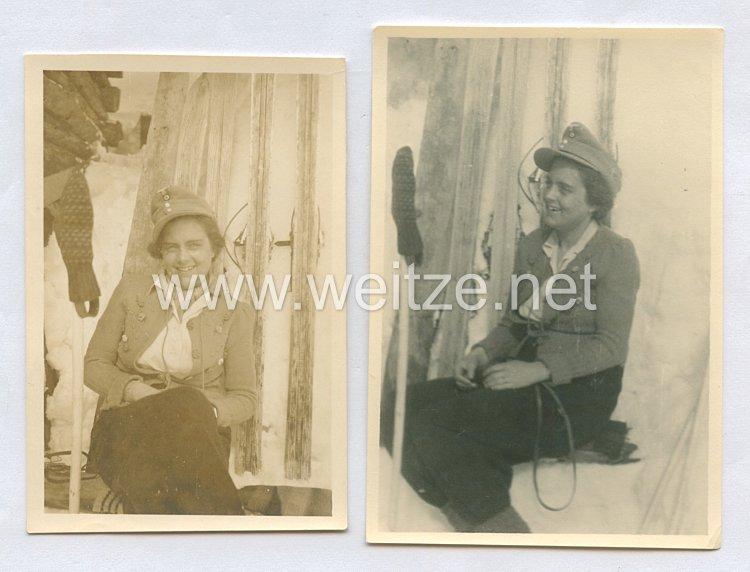 Wehrmacht Heer Fotos, Frau mit Einheitsfeldmütze