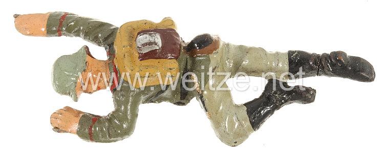 Lineol - Heer Verwundeter auf den Bauch liegend