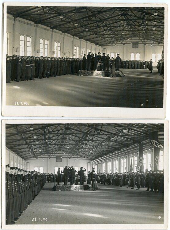 Foto, Vereidigung von Angehörigen der Kriegsmarine am 31.1.1940