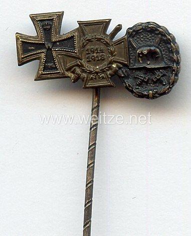 Miniaturspange eines Frontkämpfers im 1. Weltkrieg - 3 Auszeichnungen