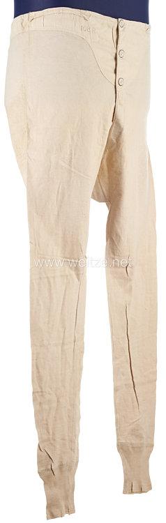 Erster Weltkrieg weiße lange Unterhose für Mannschaften