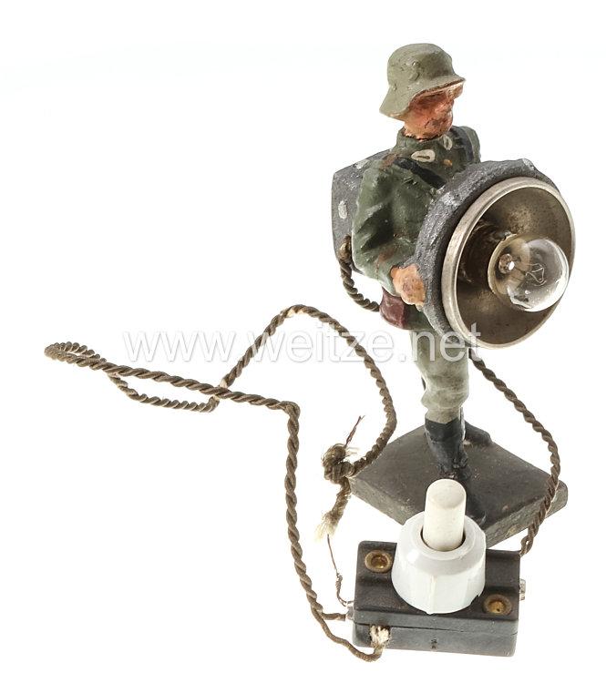 Lineol - Heer Soldat mit elektrischem Blinkgerät