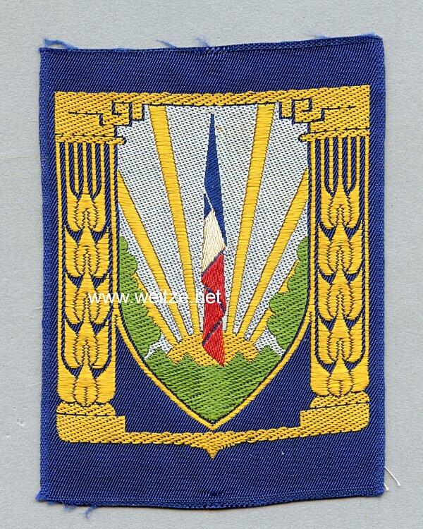 """Frankreich 2.Weltkrieg Vichy Regierung, Stoffabzeichen der Jugendorganisation """"Chantiers de la Jeunesse"""""""