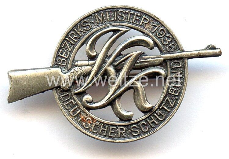 """Deutscher Schützenbund ( DSB ) -Abzeichen """" Bezirks-Meister 1936 """""""