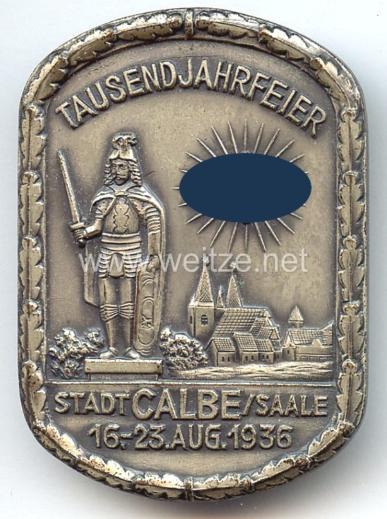 III. Reich - Tausendjahrfeier Stadt Calbe/Saale 16.-23.Aug. 1936