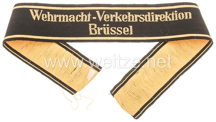 """Deutsche Reichsbahn Ärmelband """"Wehrmacht-Verkehrsdirektion Brüssel"""""""