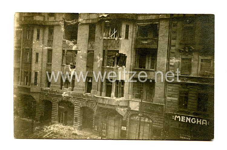 Weimarer Republik Foto, Gebäude nach der Beschießung vom 5 - 12.1.1919