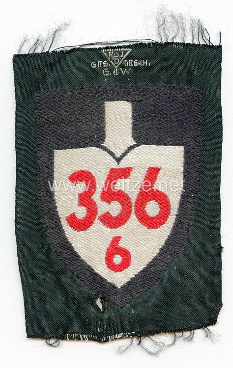 Reichsarbeitsdienst (RAD) Ärmelspaten für Mannschaften Abteilung 6/356 Neusiedl am See, Arbeitsgau 35 Niederdonau