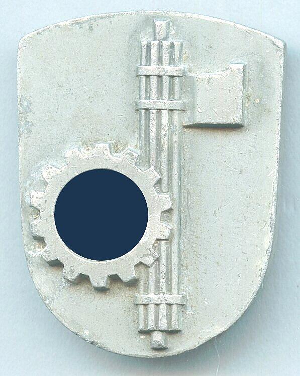 III. Reich Offizielles Abzeichen der Teilnehmerdelegation am Abkommen Dr. Ley - Cianetti, 1937