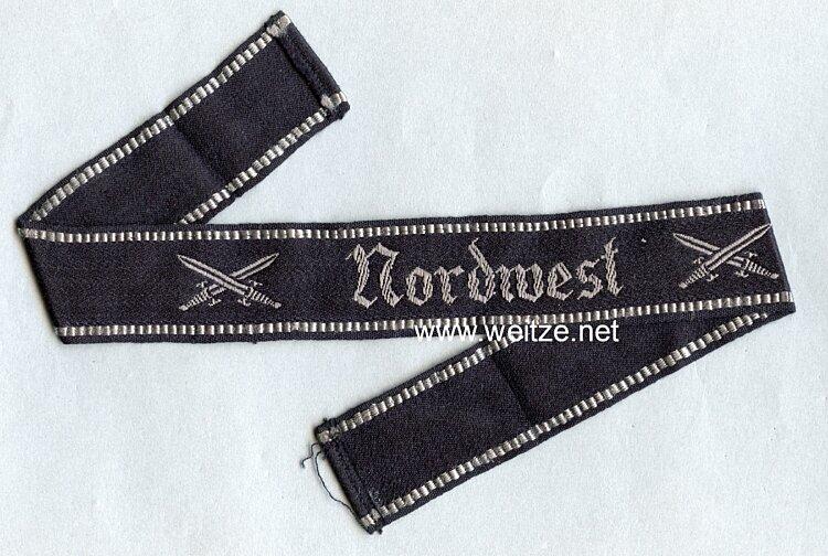 """NS Soldatenbund Ärmelband """"Nordwest"""" für Bundesmitglieder"""