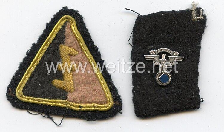 NSKK-Transportbrigade Speer Einzel Kragenspiegel und Ärmelschild der Niederländischen Freiwilligen