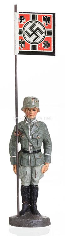 Elastolin - Heer Standartenträger stillgestanden  mit Anwesenheitsstandarte des Reichskriegsministers und Oberbefehlshabers der Wehrmacht