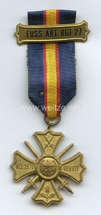 Preußen Regiments-Erinnerungskreuz des Fußartillerie-Regiments Nr. 27