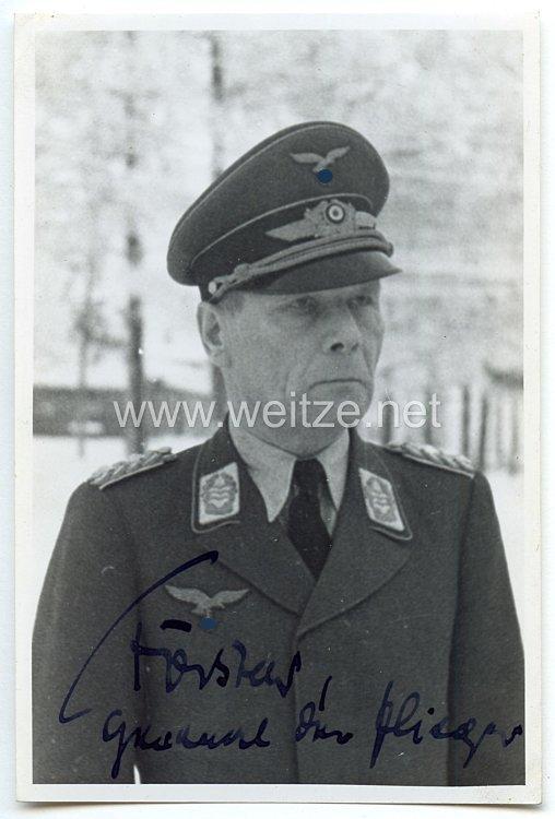 Luftwaffe - Originalunterschrift von Ritterkreuzträger General der Flieger Helmuth Förster