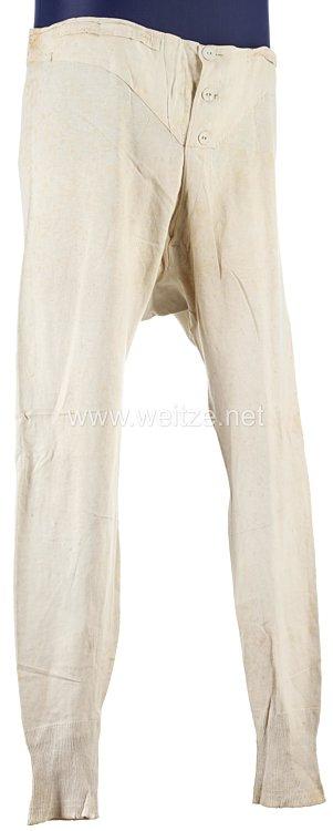Erster Weltkrieg weiße lange Unterhose