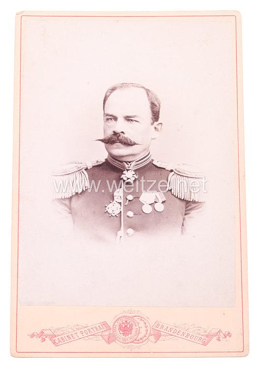 Zaristisches RußlandKabinettfoto eines Majors der Garde-REgimenter