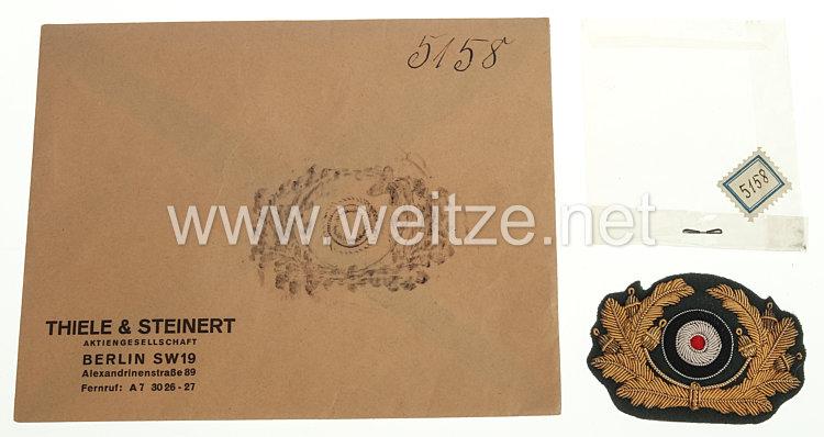 Wehrmacht Heer Schirmmützeneichenlaub und Kokarde für einen General des Heeres