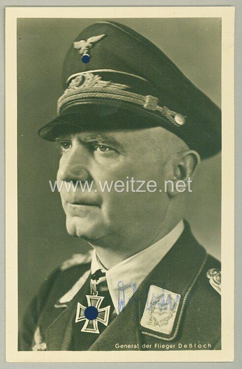 Luftwaffe - Faksimileunterschrift von Ritterkreuzträger General der Flieger Otto Deßloch