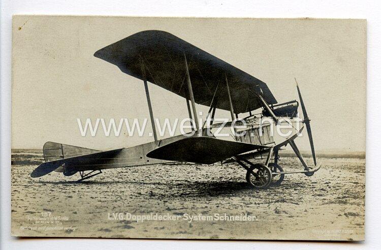 Fliegerei 1. Weltkrieg - Fotopostkarte  - Deutsche Flugzeugtypen