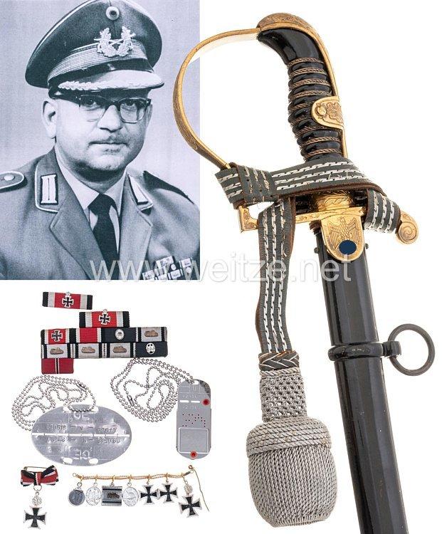 Wehrmacht Geschenksäbel der Stadt Hann an den Träger des Eichenlaubs zum Ritterkreuz des Eisernen Kreuzes Oberleutnant Wilhelm Niggemeyer.