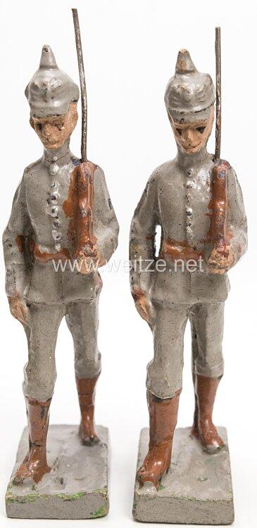 Elastolin - 1. Weltkrieg Preussen 2 Soldaten marschierend