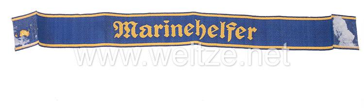"""Kriegsmarine Ärmelband """"Marinehelfer"""" für Oberhelfer"""