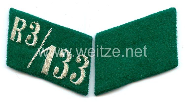 SA Paar Kragenspiegel für Mannschaften SA-Gruppe Sachsen Reserve-Sturm 3 der Standarte 133