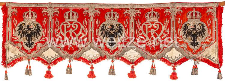 Königreich Preußen Kesselpaukenbehang des Kürassier-Regiments von Driesen (Westfälisches) Nr. 4
