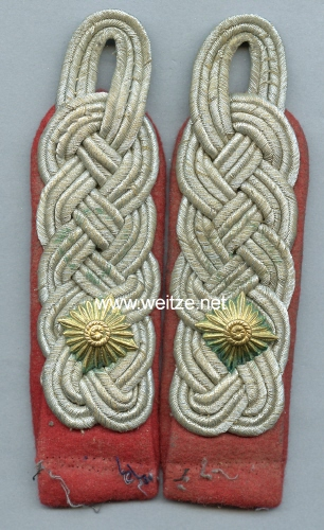 Luftwaffe Paar Schulterstück für einen Oberstleutnant der Flakartillerie
