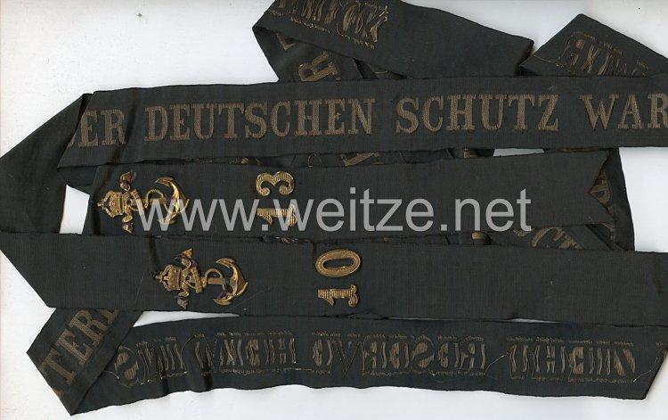 """Mützenband """"Reserve S.M.S. Rheinland"""" in Gold"""
