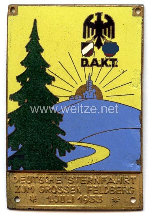 III. Reich - D.A.K.T. - nichttragbare Teilnehmerplakette -