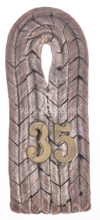 Preußen Einzel Schulterstück für einen Leutnant im Füsilier-Regiment Prinz Heinrich von Preußen (Brandenburgisches) Nr. 35