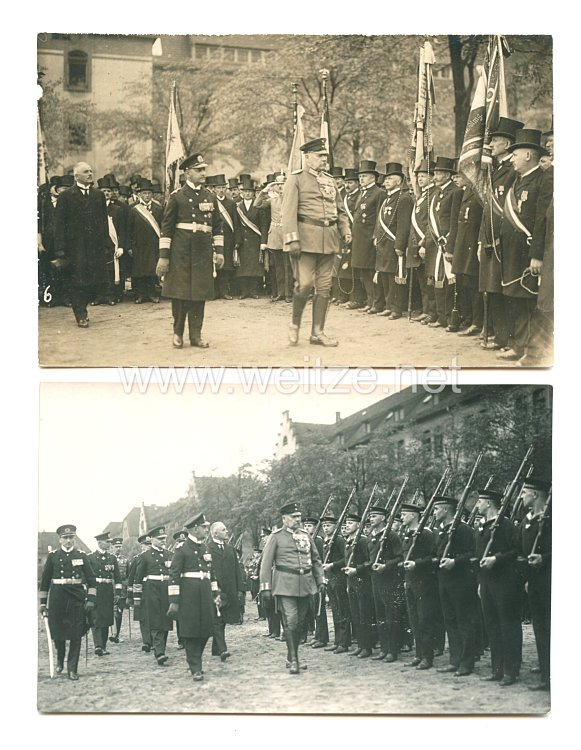 Weimarer Republik Foto, General von Hindenburg schreitet die Front ab