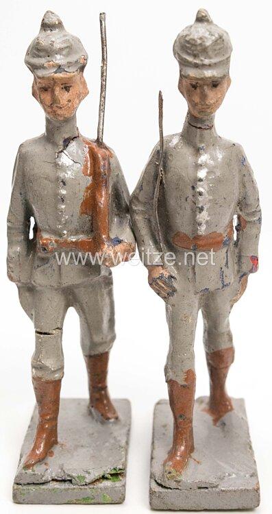 1. Weltkrieg Preussen Offizier und Soldat marschierend
