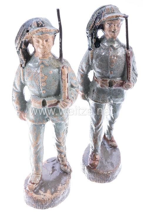 Elastolin - 1. Weltkrieg Italien 2 Soldaten der Bersaglieri marschierend